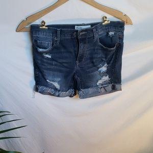 Mudd Distressed Jean Shorts